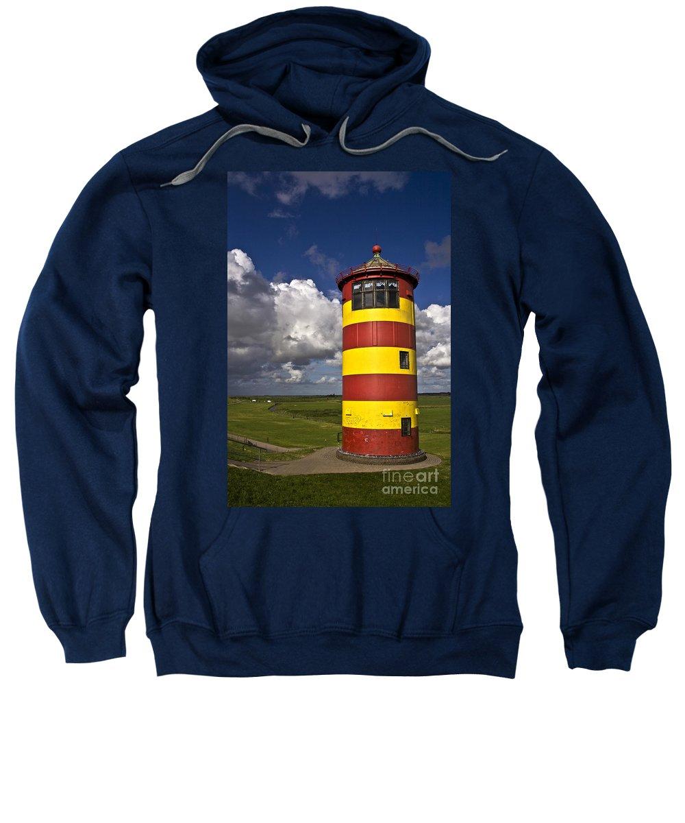 Heiko Sweatshirt featuring the photograph Pilsum Lighthouse by Heiko Koehrer-Wagner