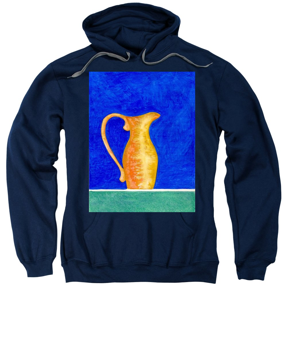 Still Life Sweatshirt featuring the painting Pitcher 2 by Micah Guenther