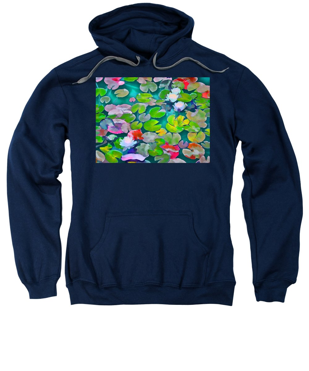 Pond Lilies Sweatshirt featuring the photograph Pond Lily 5 by Pamela Cooper