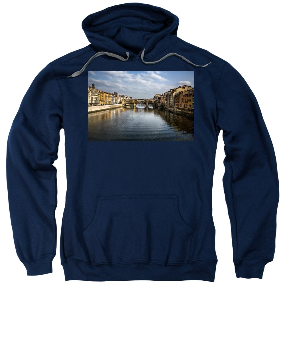 Italy Sweatshirt featuring the photograph Ponte Vecchio by Dave Bowman