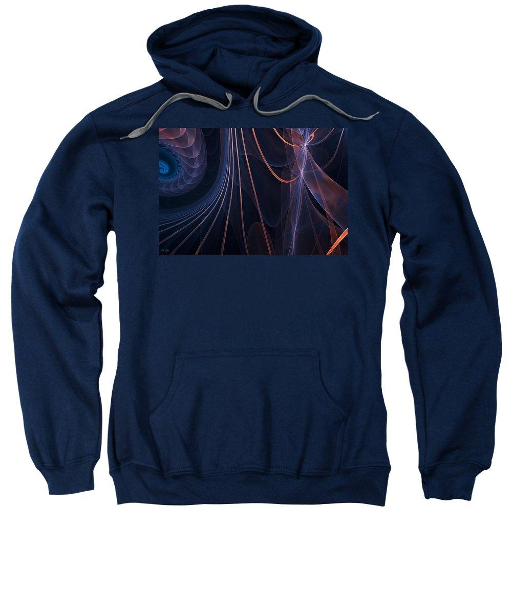 Fractal Sweatshirt featuring the photograph Purple Ablaze by Lourry Legarde