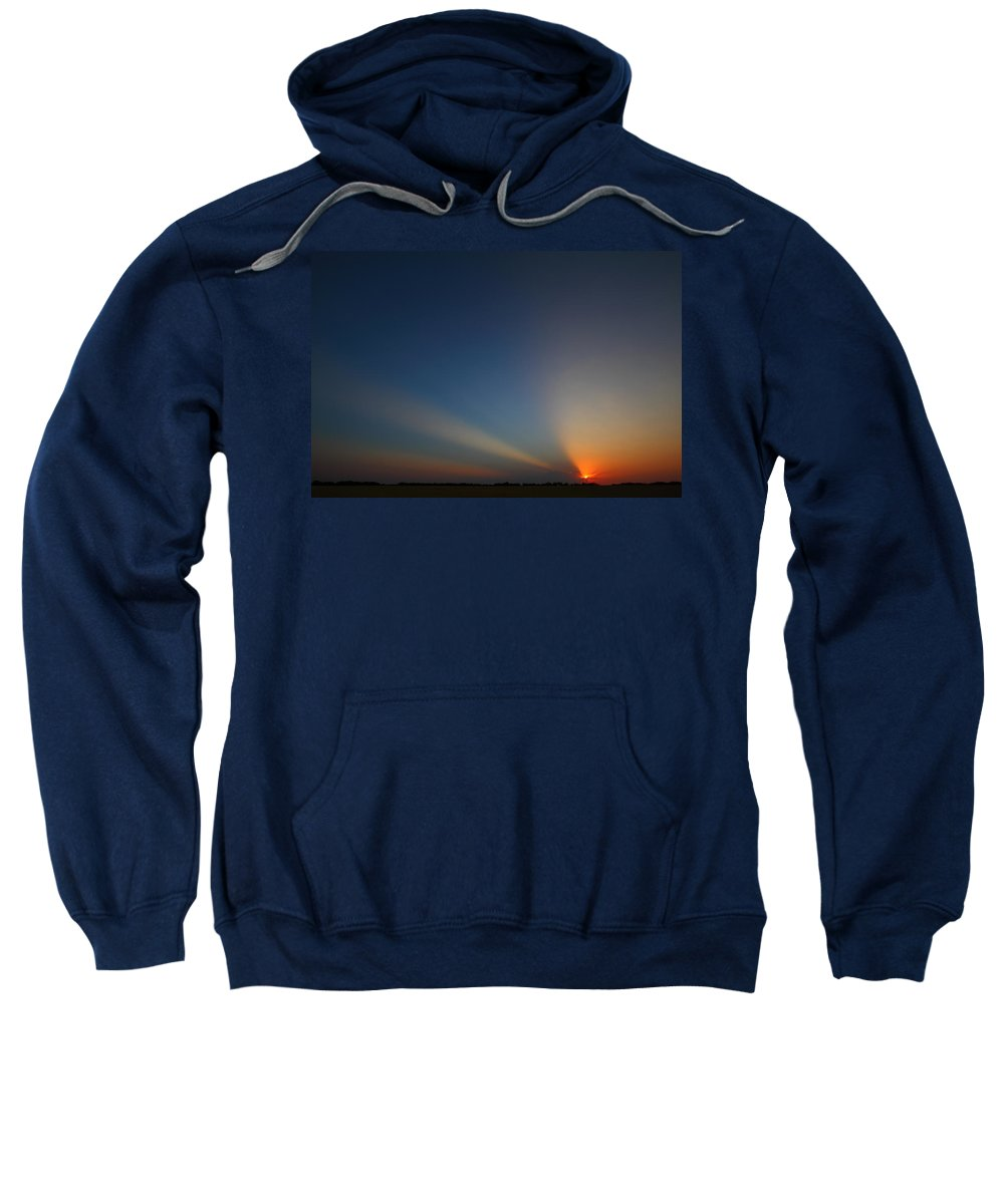 Sunrise Sweatshirt featuring the photograph Brazos River 2am-107649 by Andrew McInnes