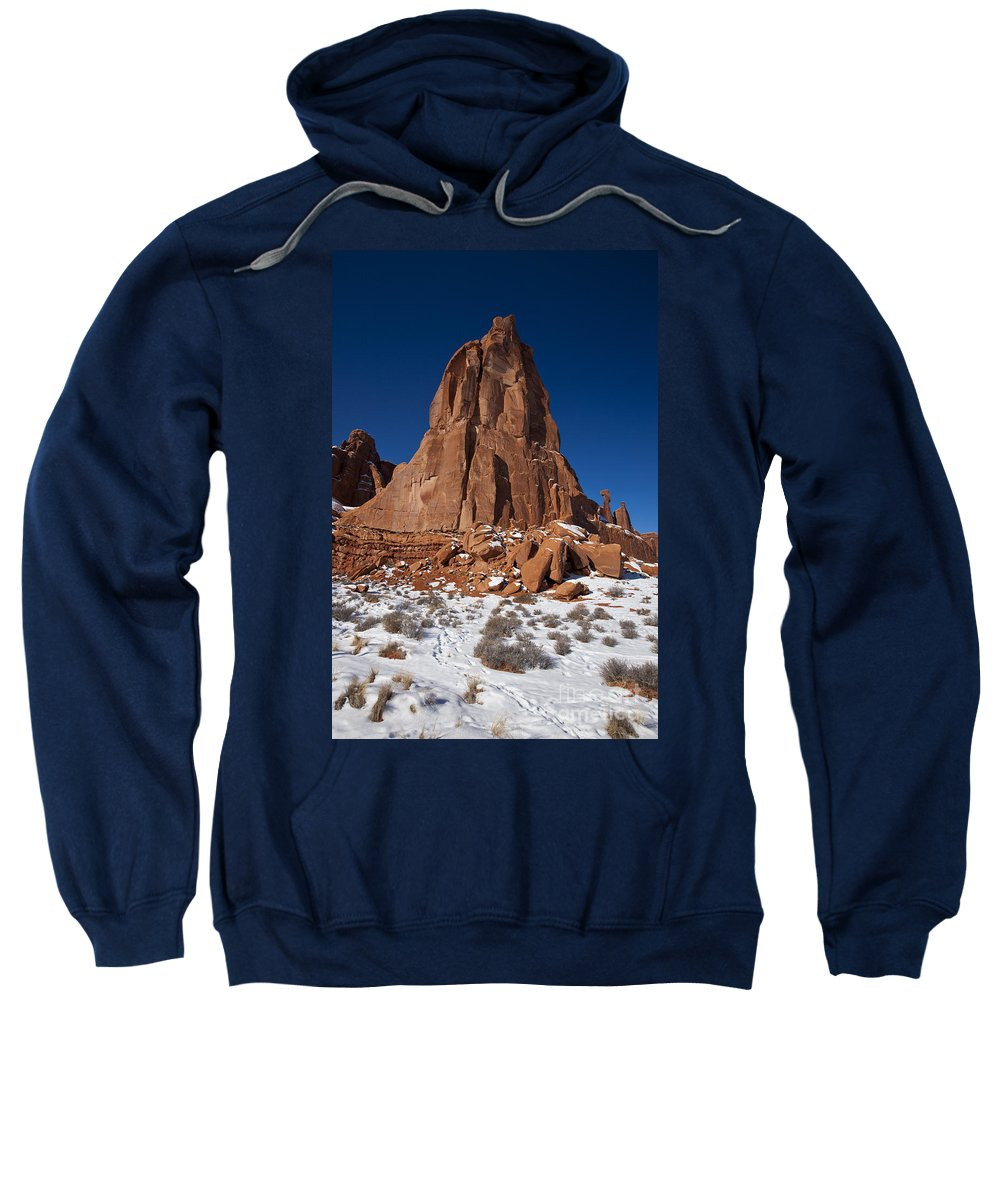 Arches Sweatshirt featuring the photograph Red Sandstone Arches National Park Utah by Jason O Watson