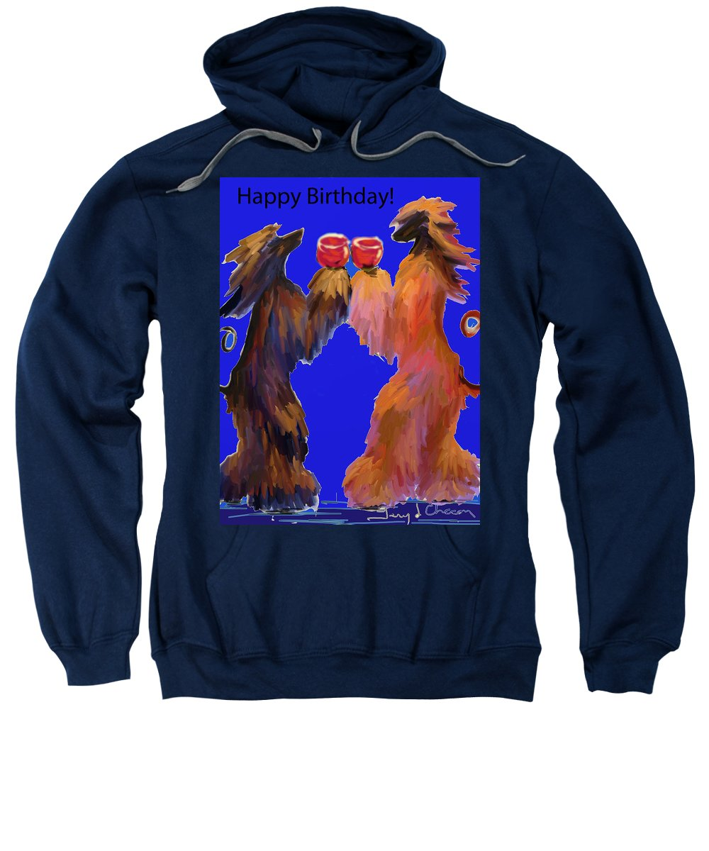 Ipad Finger Painting Sweatshirt featuring the painting Red Wine by Terry Chacon