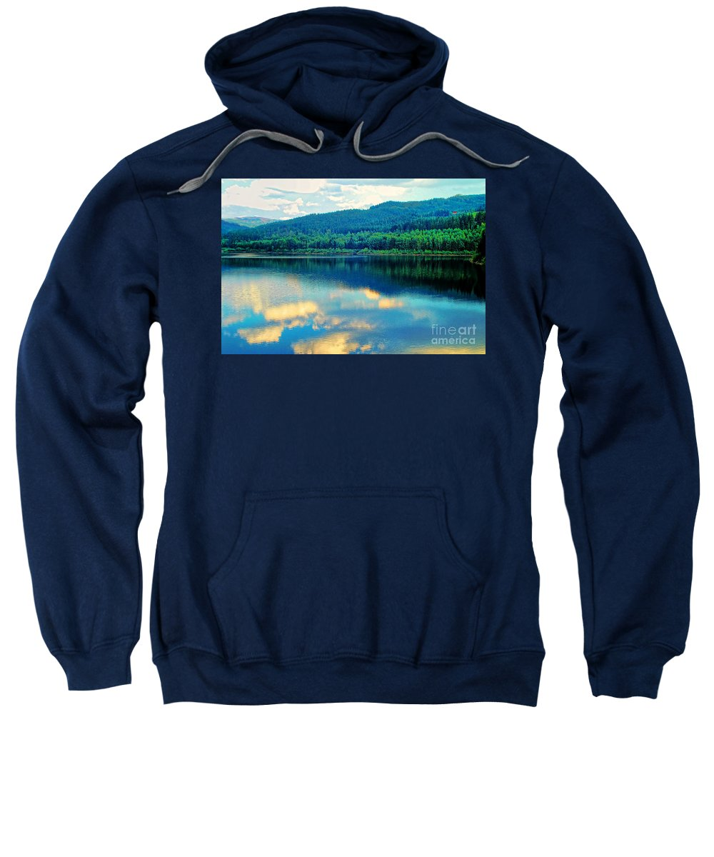 Reflection In The Water Sweatshirt featuring the photograph Reflection In The Water by Mariola Bitner