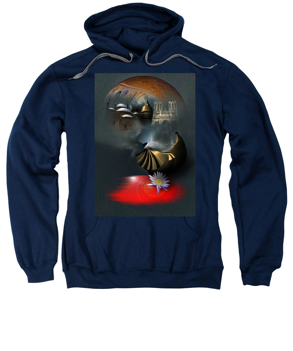 Religion Sweatshirt featuring the photograph Religion by Dray Van Beeck