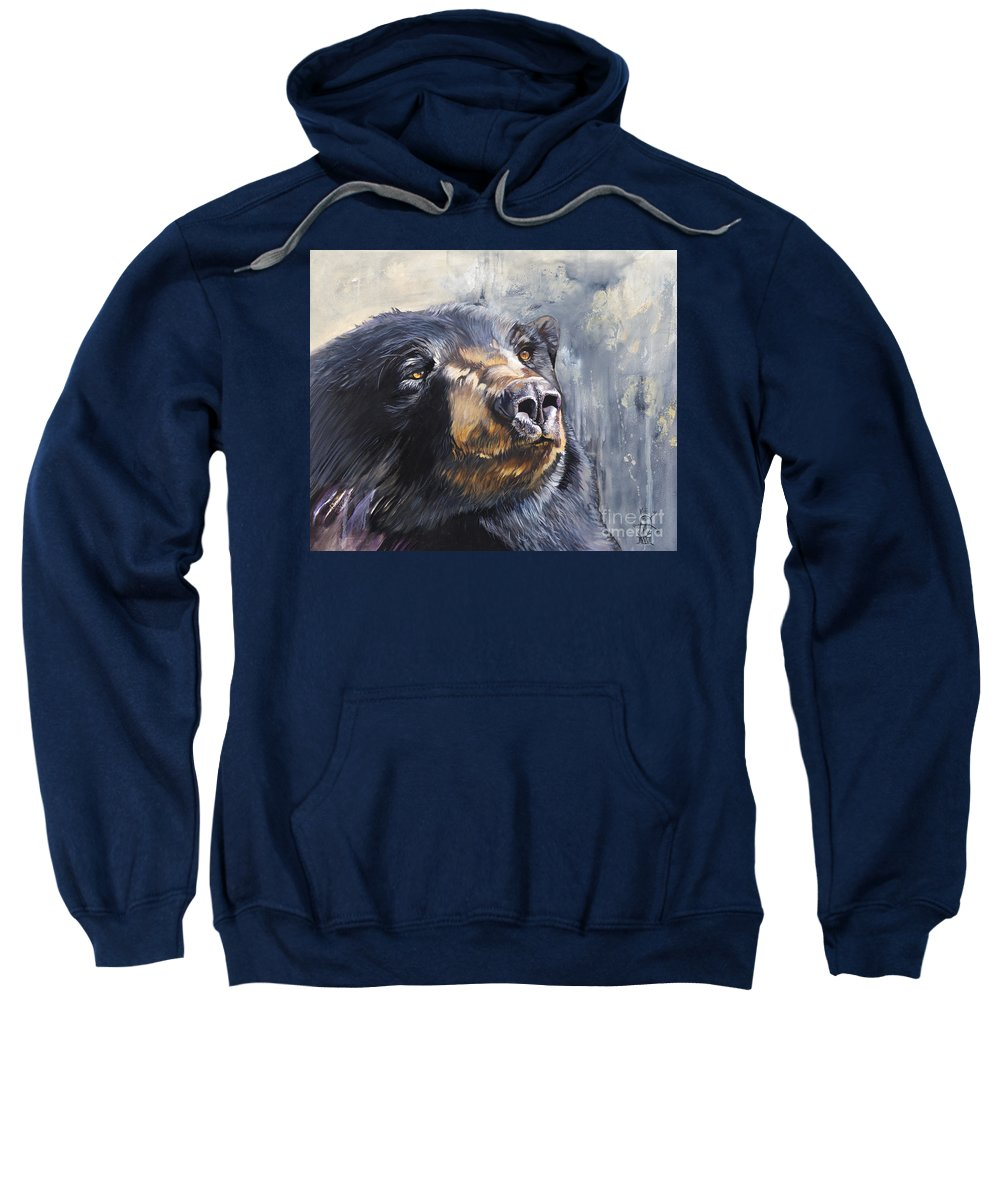 Bear Sweatshirt featuring the painting Remember me by J W Baker