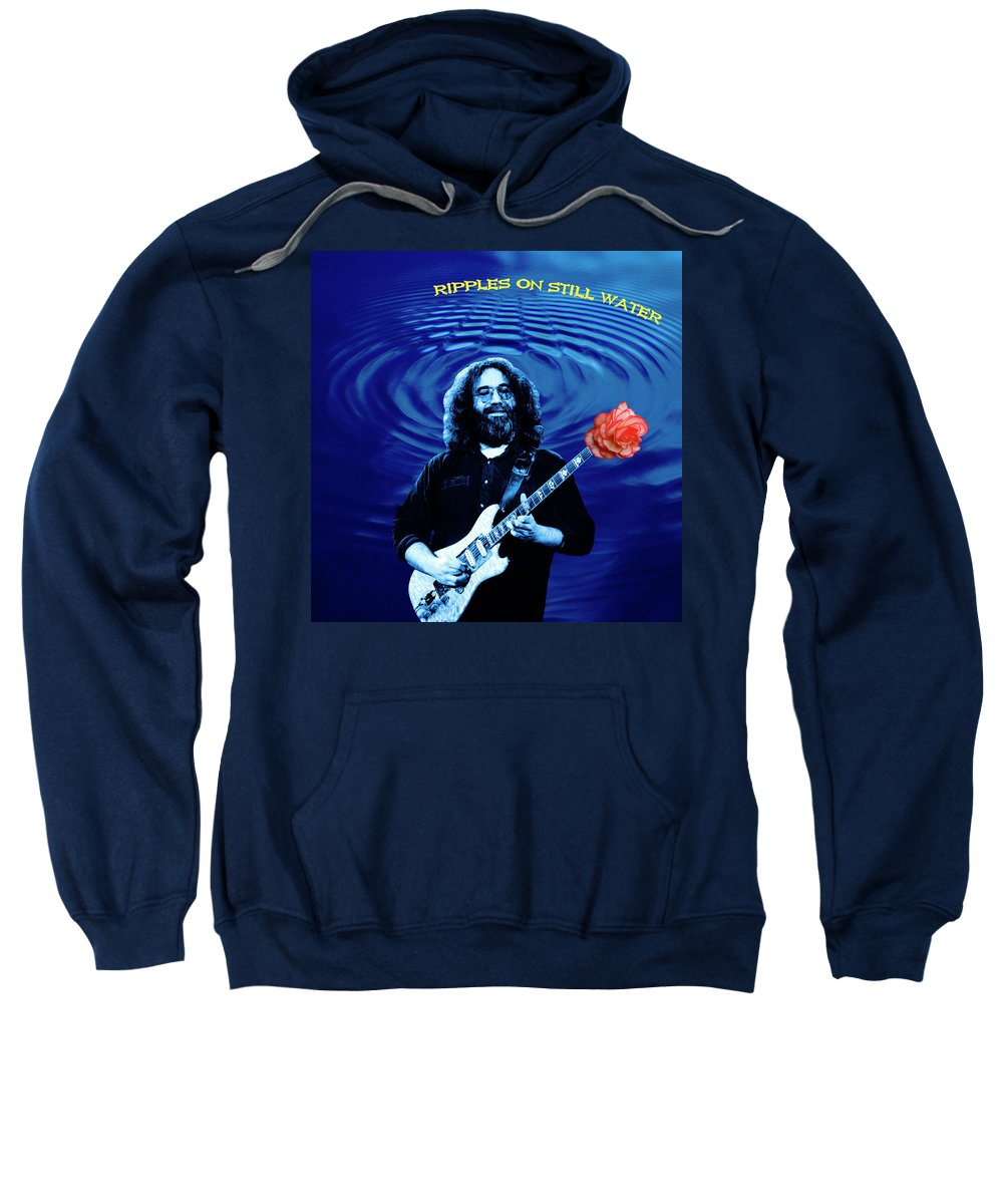 Grateful Dead Sweatshirt featuring the photograph Ripples On Still Water by Ben Upham