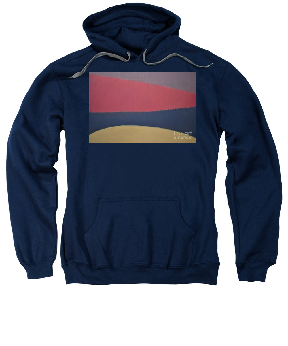 Abstract Sweatshirt featuring the painting River by Karen Francis