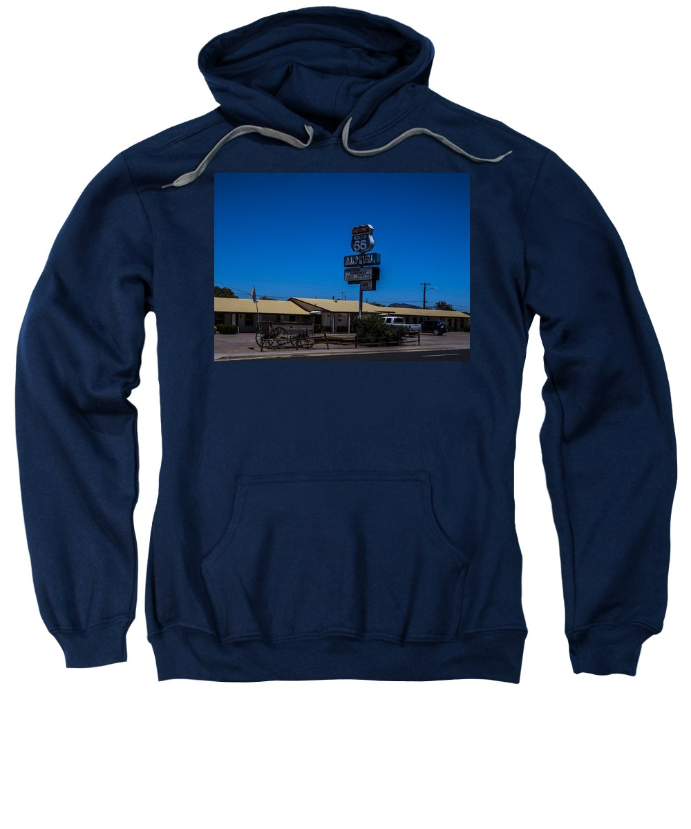 Route 66 Sweatshirt featuring the photograph Route 66 Motel by Angus Hooper Iii