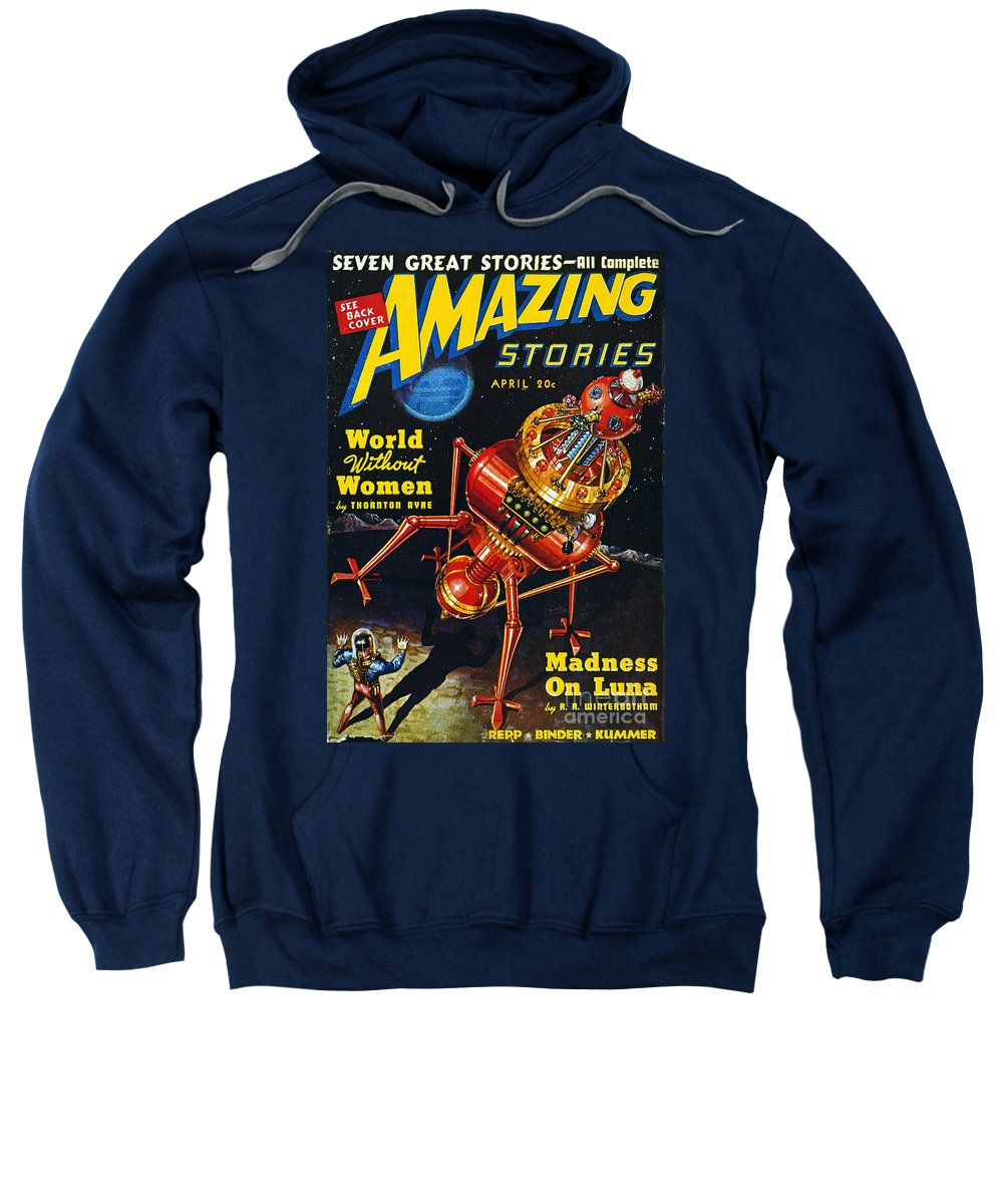 1939 Sweatshirt featuring the photograph Science Fiction Cover, 1939 by Granger