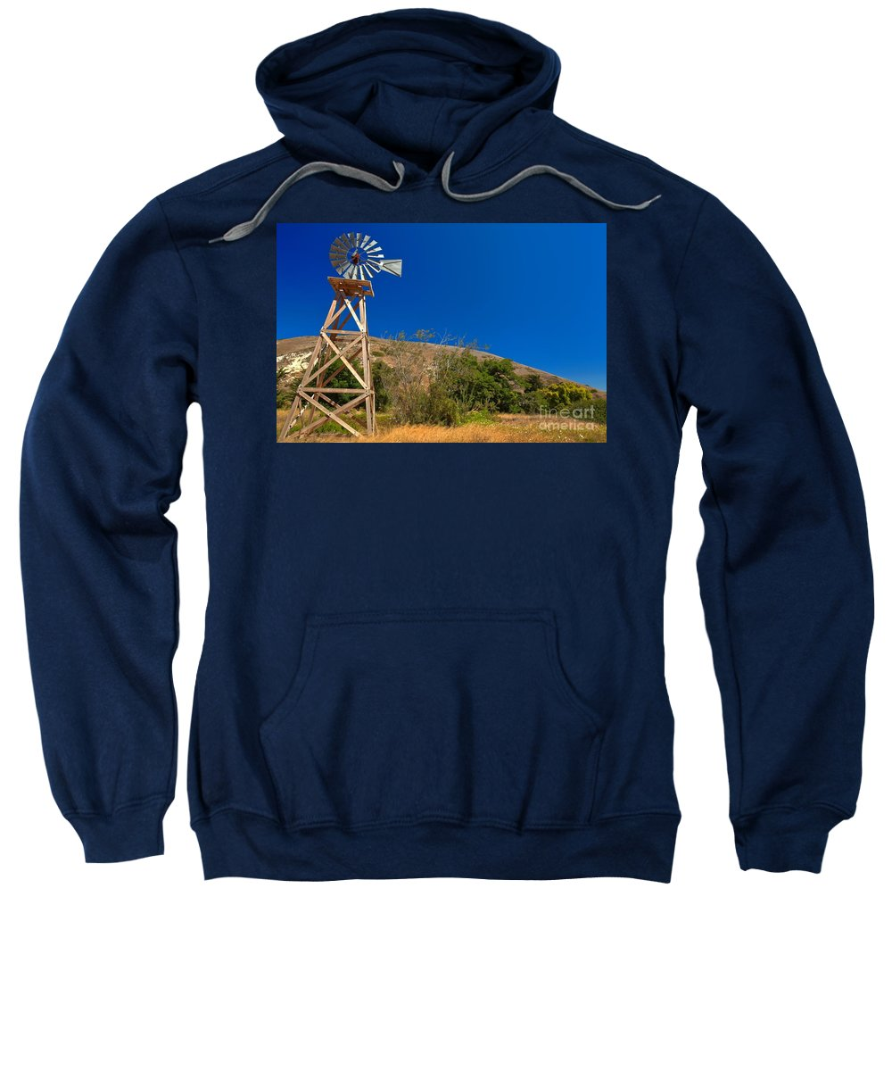 Scorpion Ranch Sweatshirt featuring the photograph Scorpion Windmill by Adam Jewell