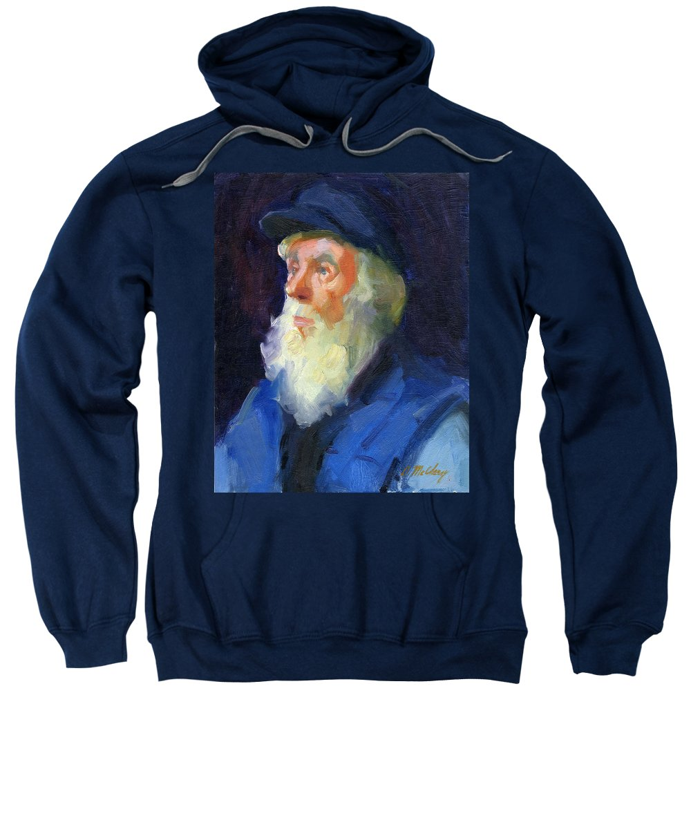 Sea Captain Sweatshirt featuring the painting Sea Captain 2 by Diane McClary