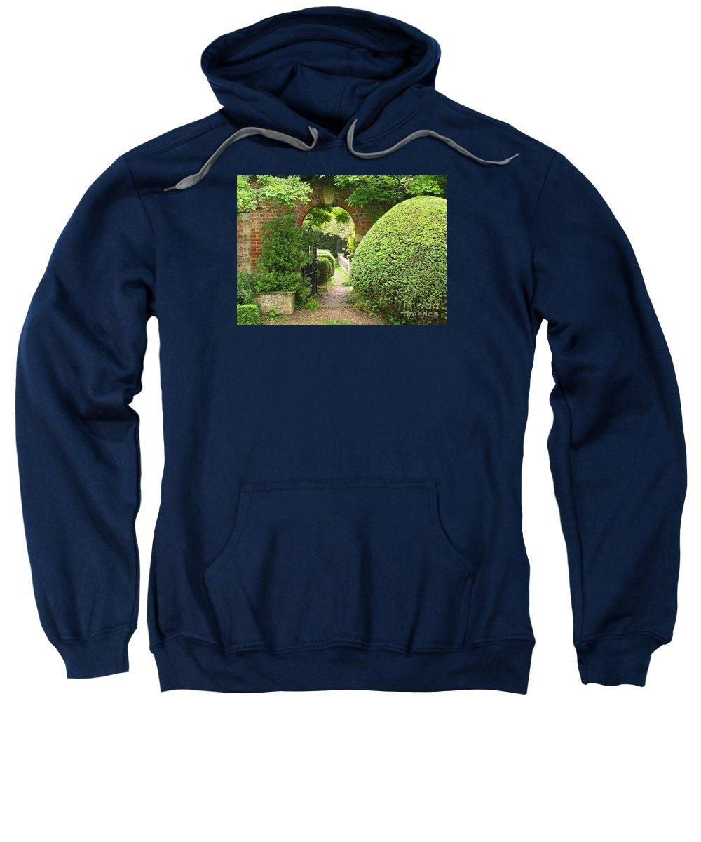 Garden Sweatshirt featuring the photograph Secret English Garden by Ann Horn