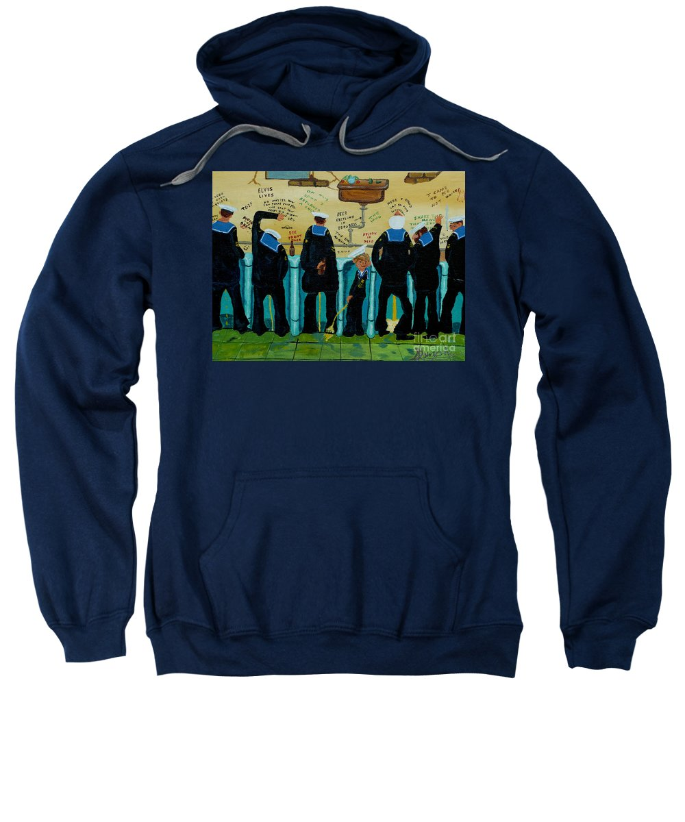 Sailors Sweatshirt featuring the painting Seven Sailors by Anthony Dunphy