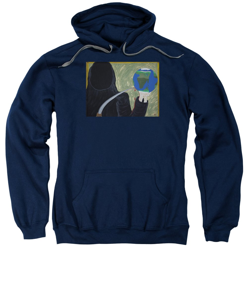 Painting Sweatshirt featuring the painting Shadow Of Fear by Dean Stephens