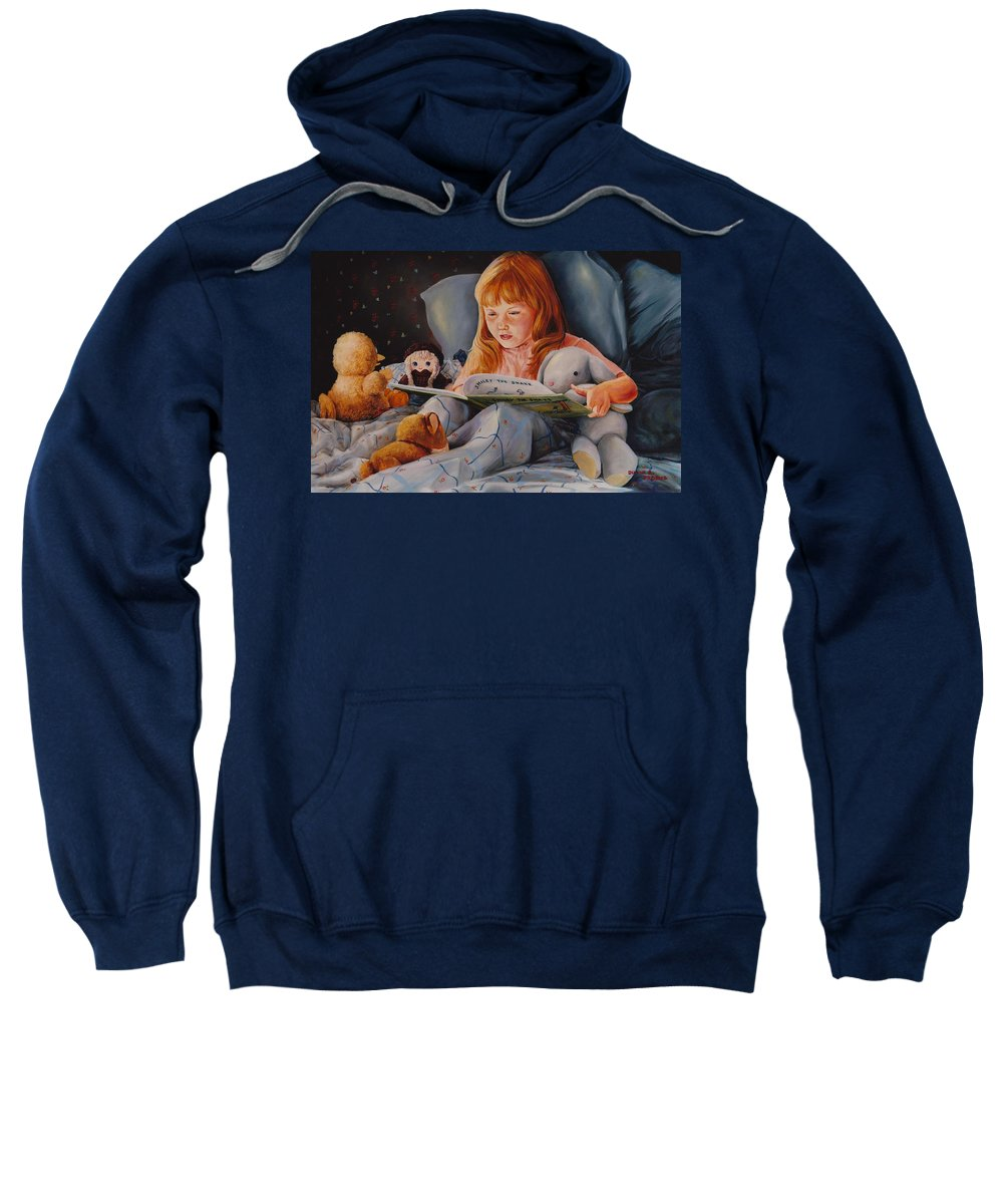 Child Sweatshirt featuring the painting Shaina's Friends by Duane R Probus