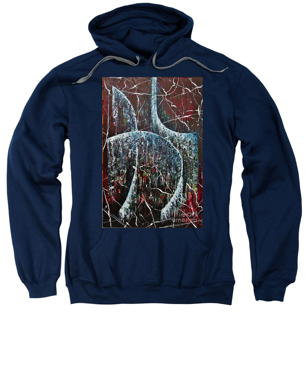 Abstract Sweatshirt featuring the painting Showers Of Mercy And Grace by Wayne Cantrell