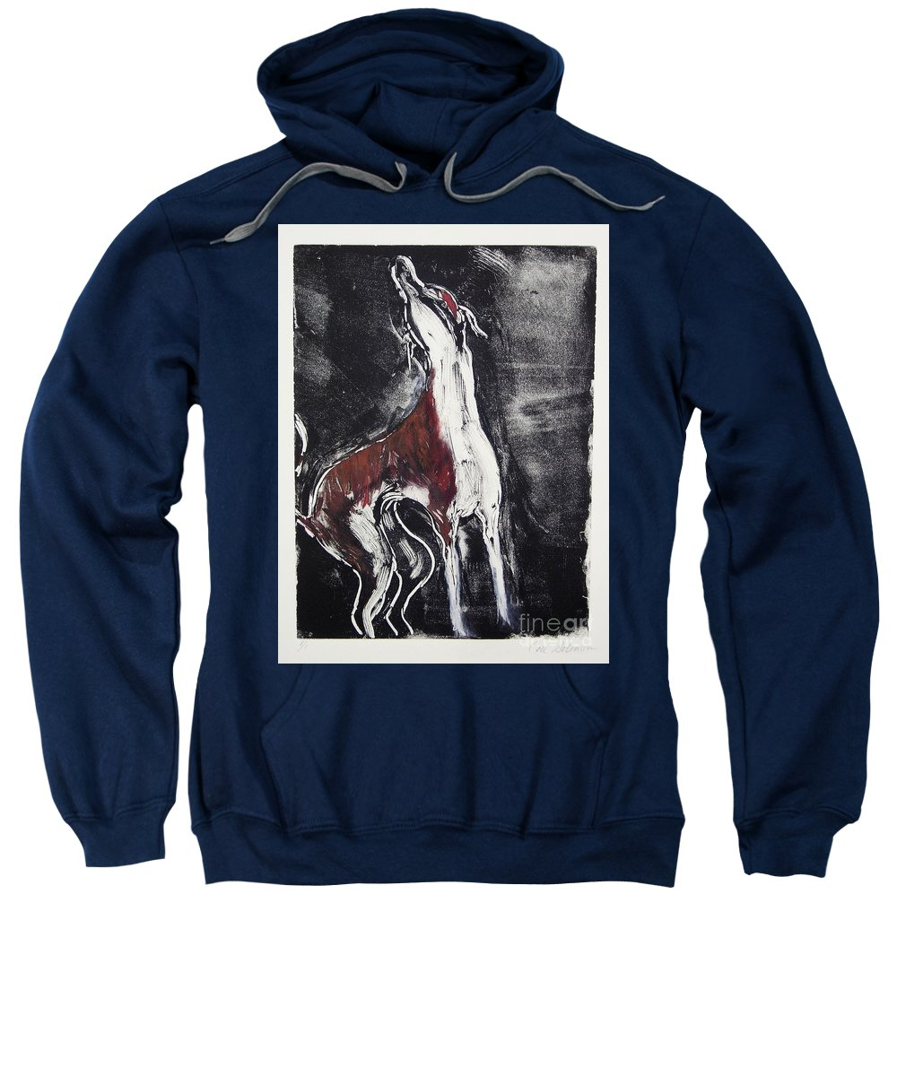 Framed Sweatshirt featuring the mixed media Singing For Joy by Cori Solomon