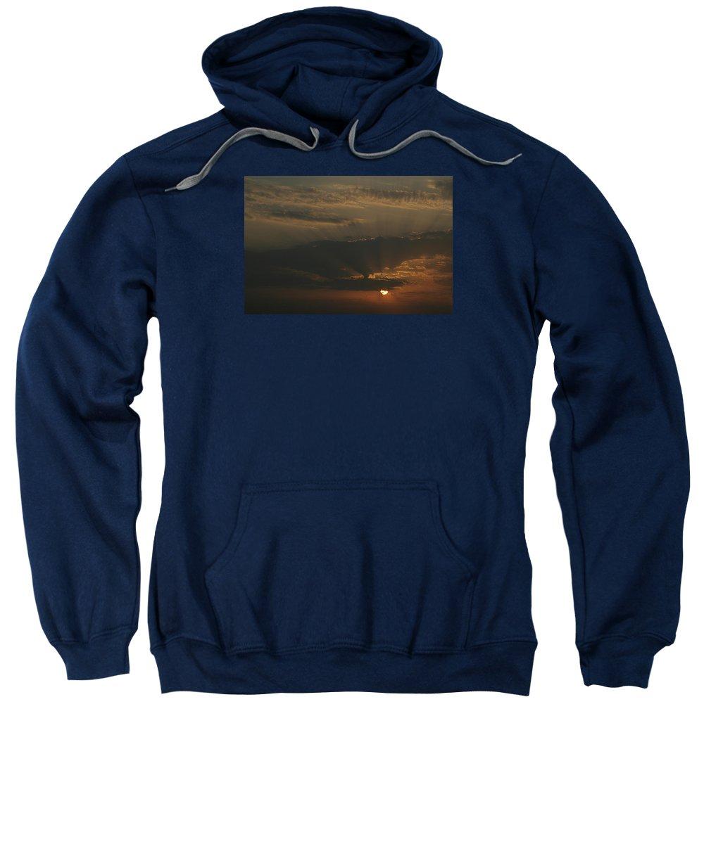 Sun Sweatshirt featuring the photograph Skc 0320 Rising Rays by Sunil Kapadia