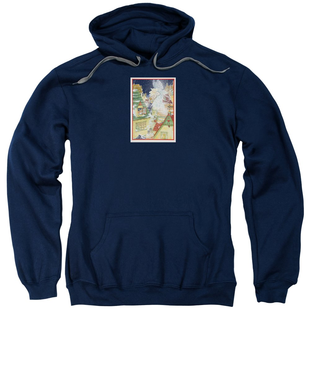 Fairy Sweatshirt featuring the painting Snow Fairy by Lynn Bywaters