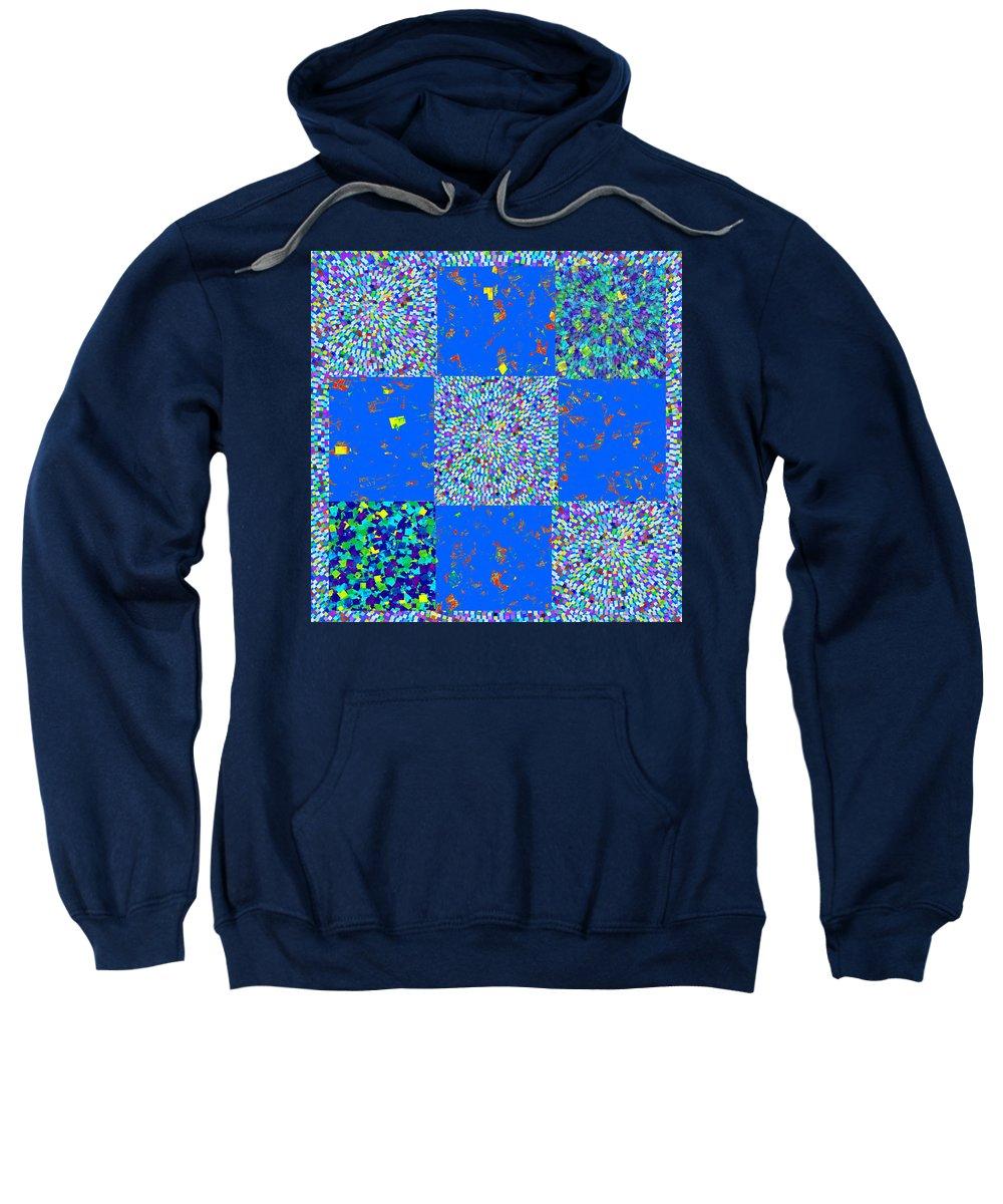 Sparkle Sweatshirt featuring the mixed media Sparkle Mandala Akaash Cosmos Pattern Bluecross Blue Cross Novino Signature  Art Navinjoshi Artist by Navin Joshi