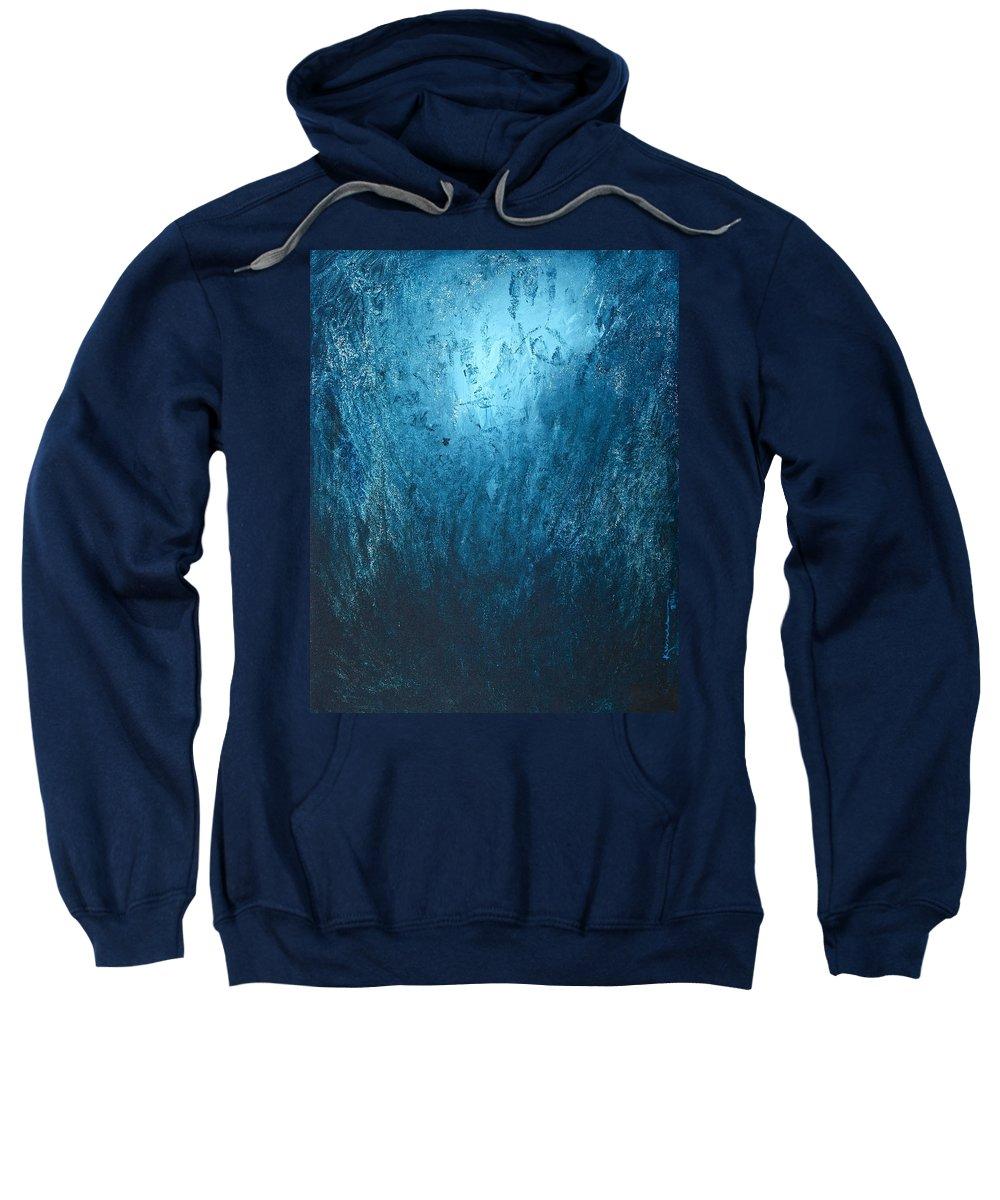 Awakening Sweatshirt featuring the painting Spirit Of Life - Abstract 3 by Kume Bryant