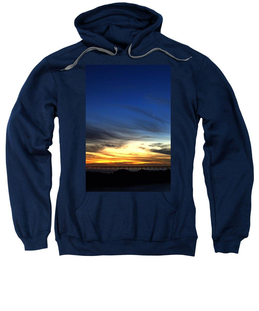 Splendido Tramonto Verticale Sweatshirt featuring the photograph Splendido Tramonto Verticale by See My Photos