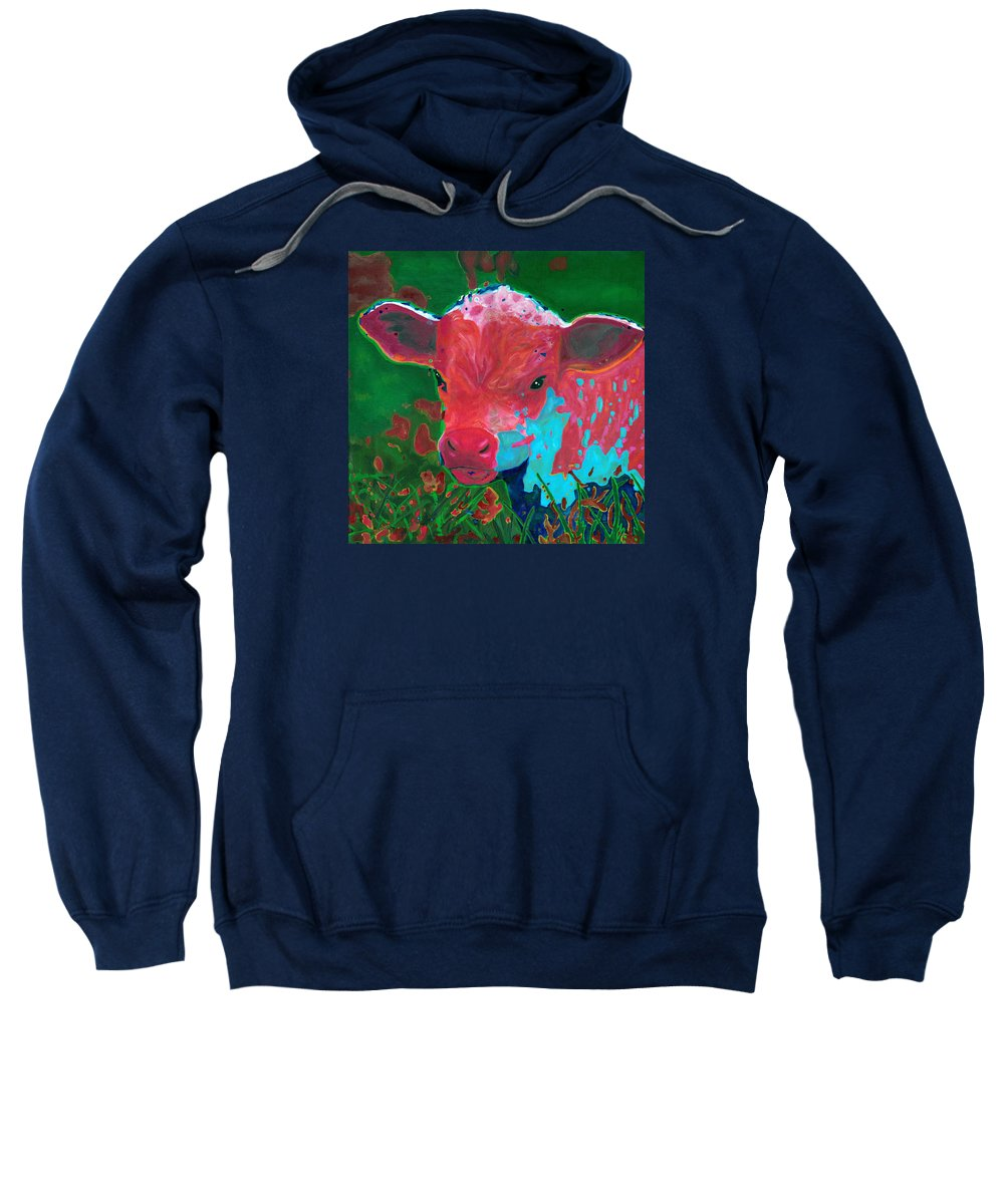 Color Sweatshirt featuring the painting Spring Sunrise by Bronwen Skye
