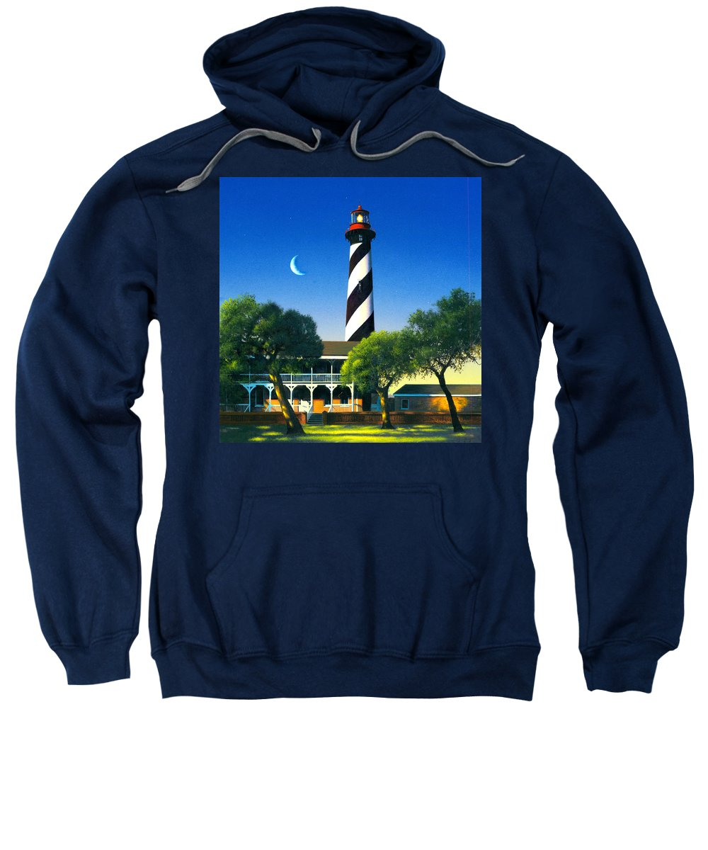 Architecture Sweatshirt featuring the photograph St Augustine by MGL Studio - Chris Hiett