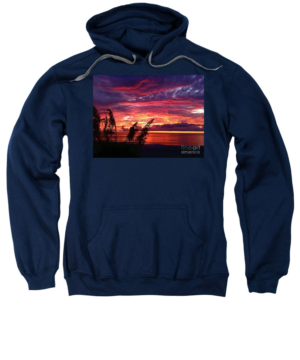 Sunset Sweatshirt featuring the photograph St. Petersburg Sunset by Sean Hughes