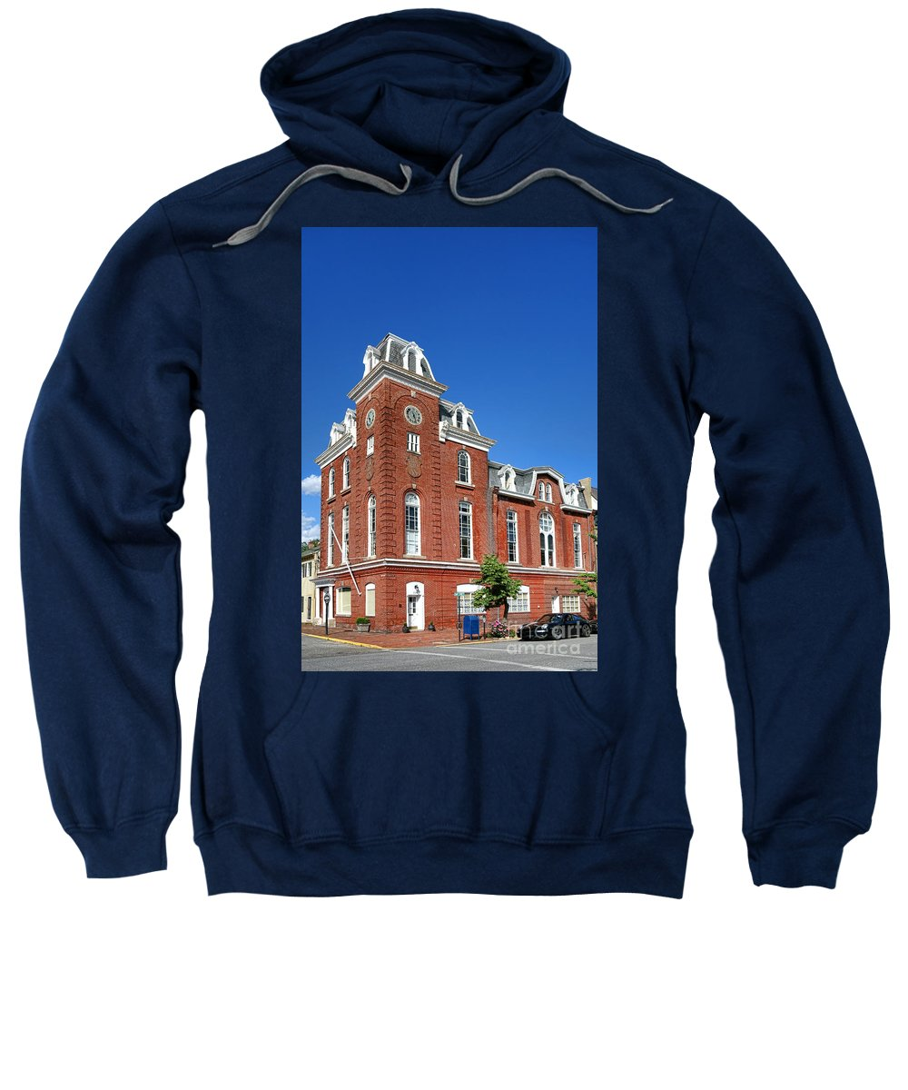 Stam's Sweatshirt featuring the photograph Stam's Hall by Olivier Le Queinec