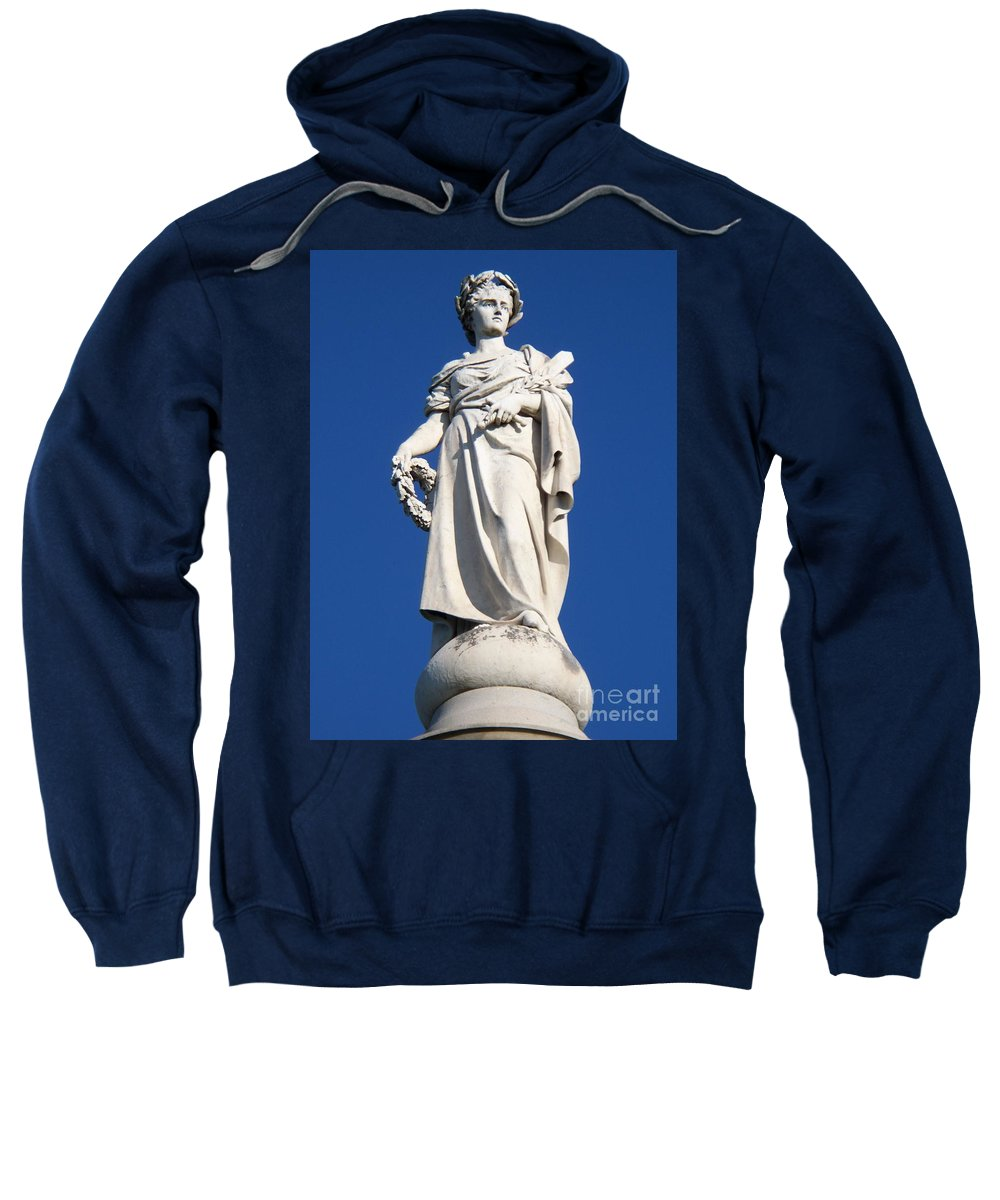 Soliders Sweatshirt featuring the photograph Statue Gettysburg by Eric Schiabor