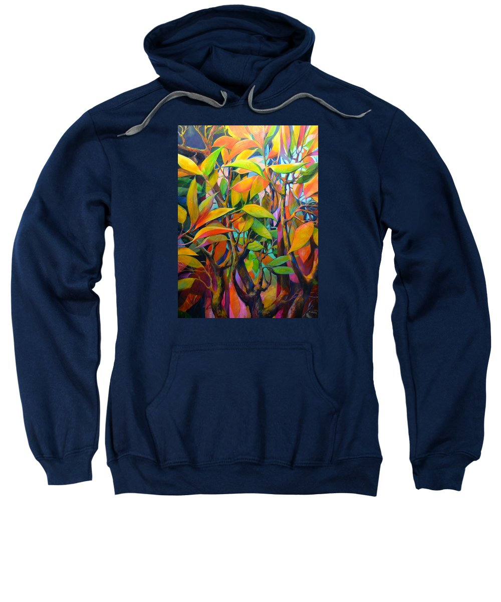 Landscape Sweatshirt featuring the painting Steams And Leaves # 82 by Ron Gordon