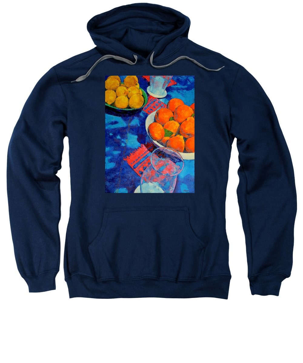 Still Life Sweatshirt featuring the painting Still Life 2 by Iliyan Bozhanov