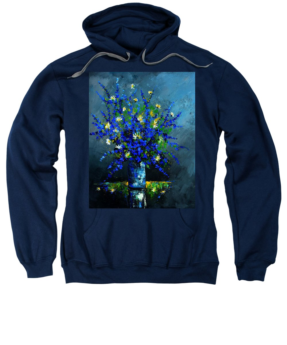 Flowers Sweatshirt featuring the painting Still life 675130 by Pol Ledent