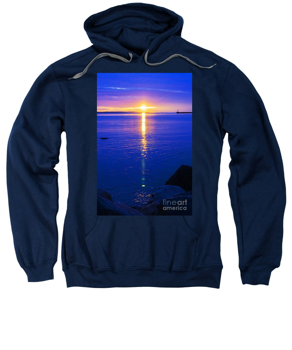 Sun Sweatshirt featuring the photograph Still Waters by Joe Geraci