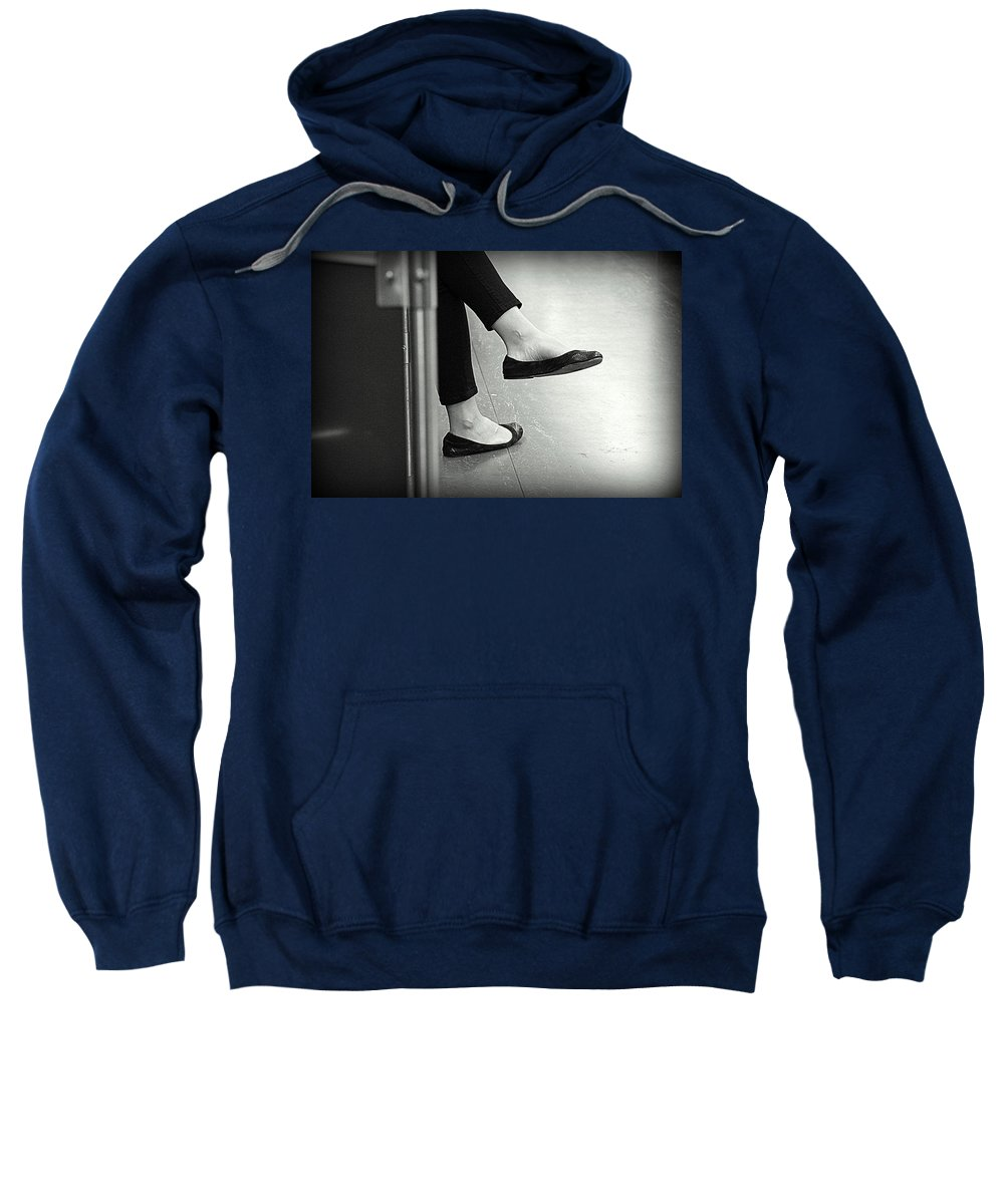 Rest Sweatshirt featuring the photograph Subway Rest by Valentino Visentini