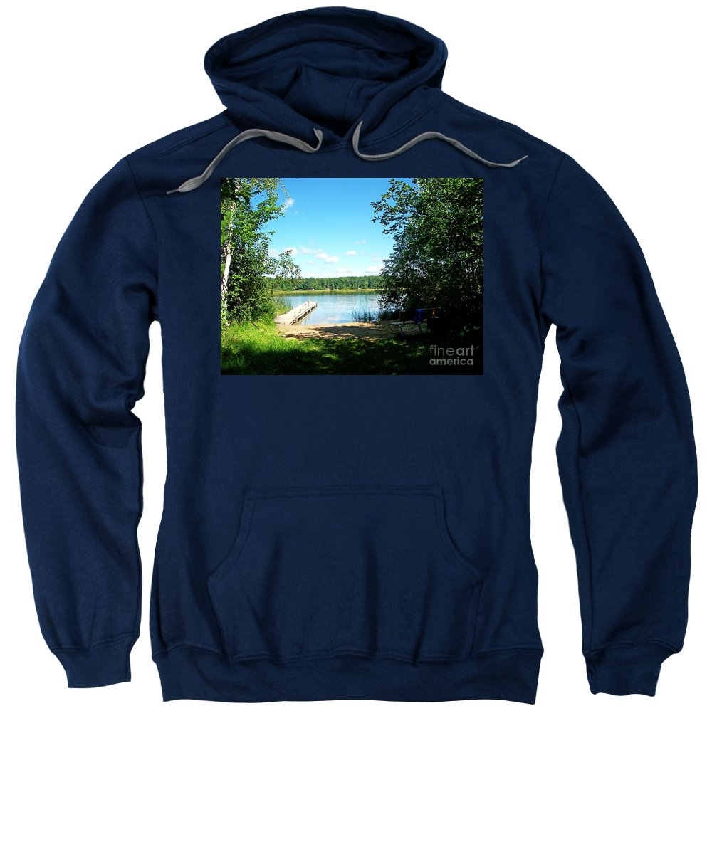 Michigan Sweatshirt featuring the photograph Summer Sweet Spot by Desiree Paquette