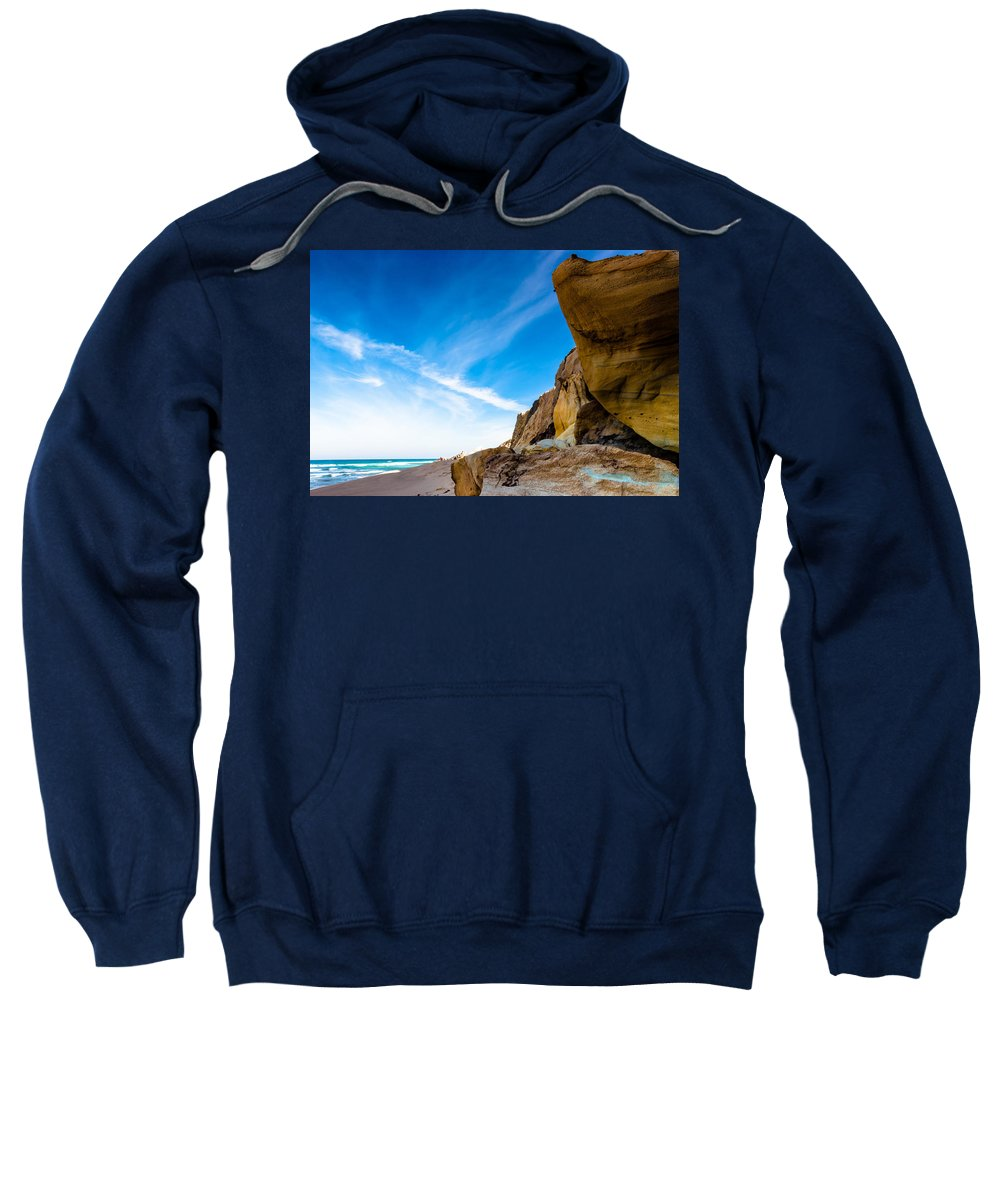 Gold Sweatshirt featuring the photograph Sun On The Beach by Edgar Laureano