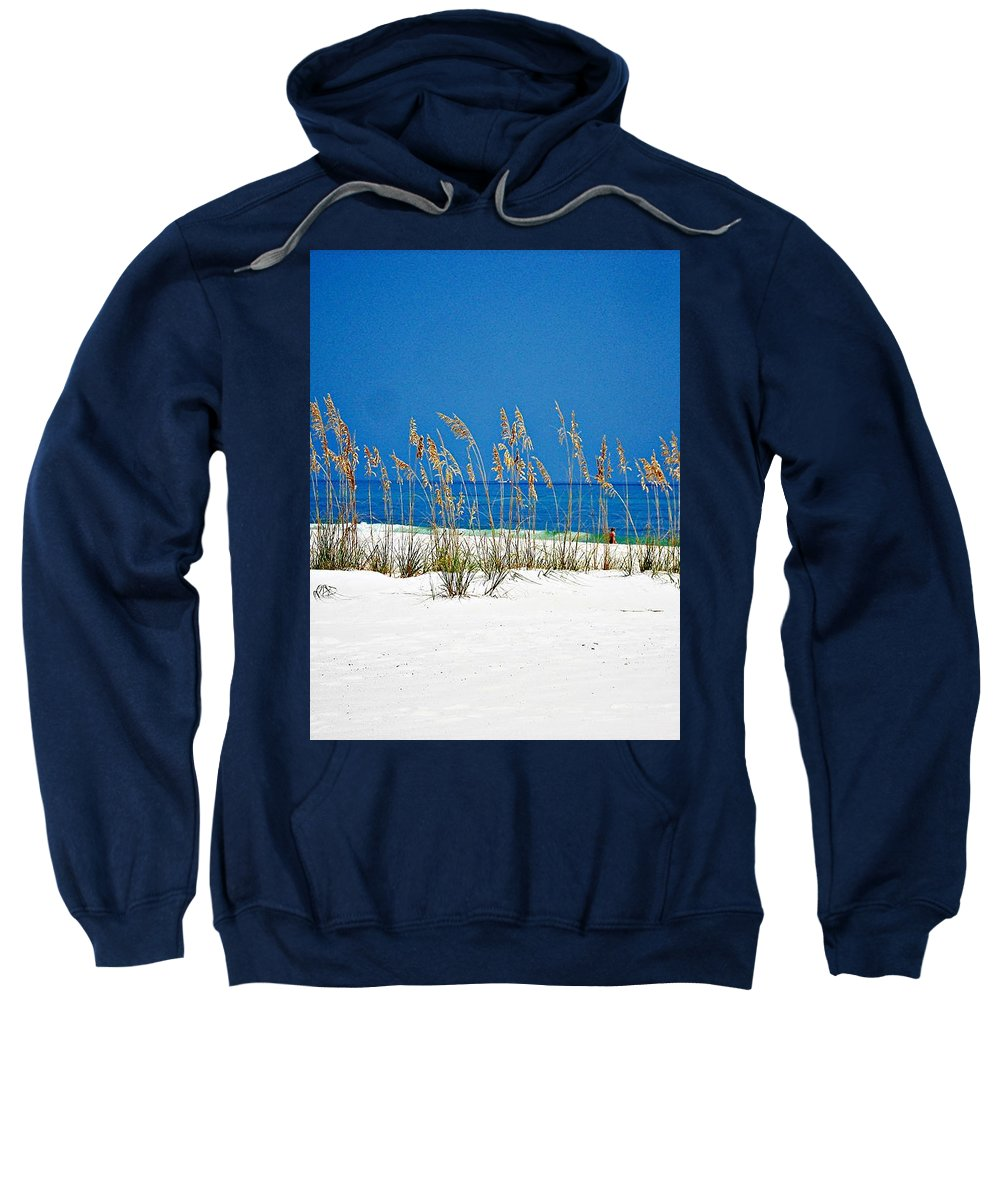 Gulf Of Mexico Sweatshirt featuring the photograph Sun Sand Surf by Mary Marsh
