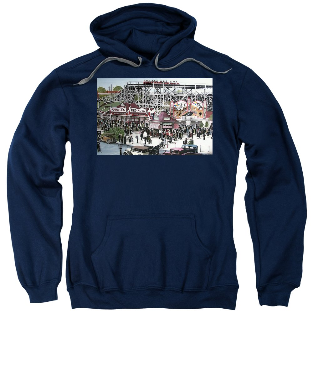 Streetscapes Sweatshirt featuring the painting Sunnyside Park by Kenneth M Kirsch