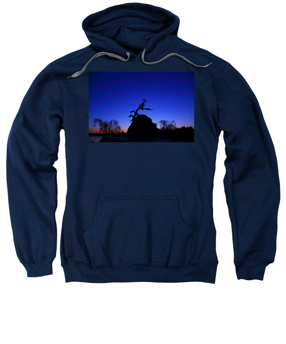 Metro Sweatshirt featuring the photograph Sunrise At The Navy Merchant Marine Memorial by Metro DC Photography