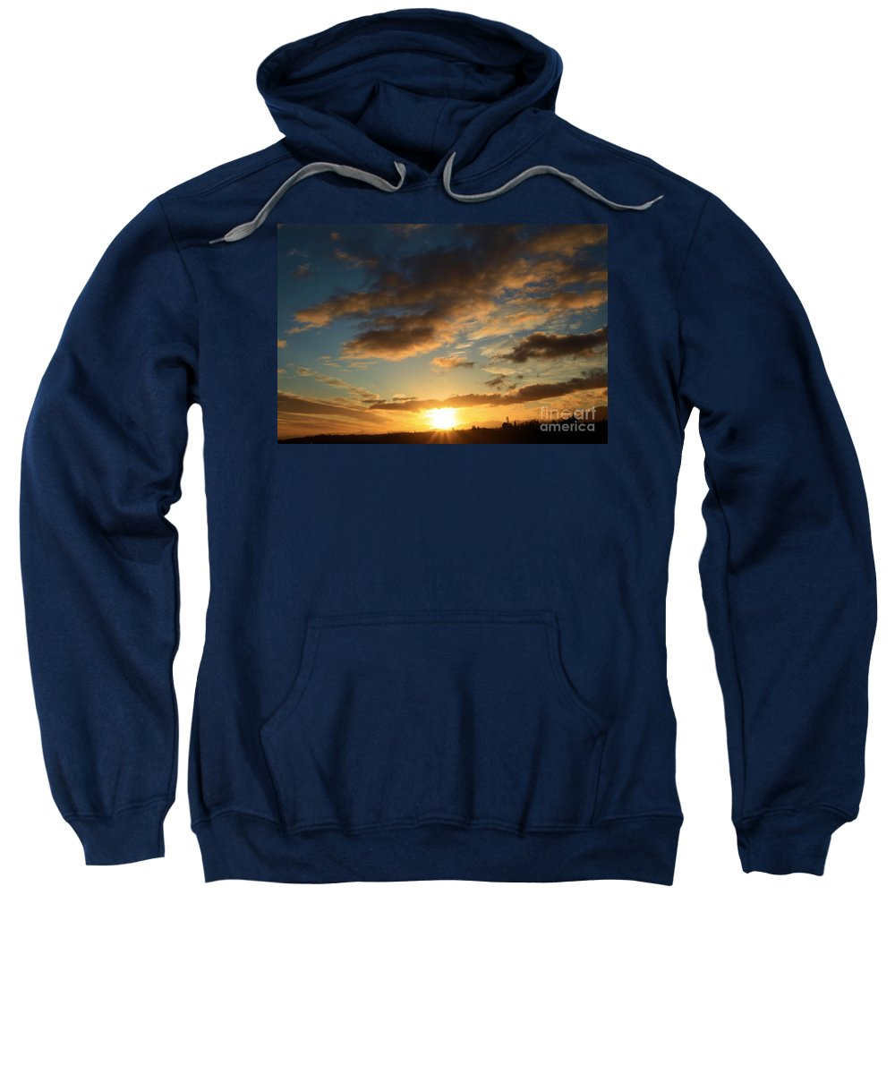 Port Angles Sweatshirt featuring the photograph Sunrise Over Port Angeles by Adam Jewell