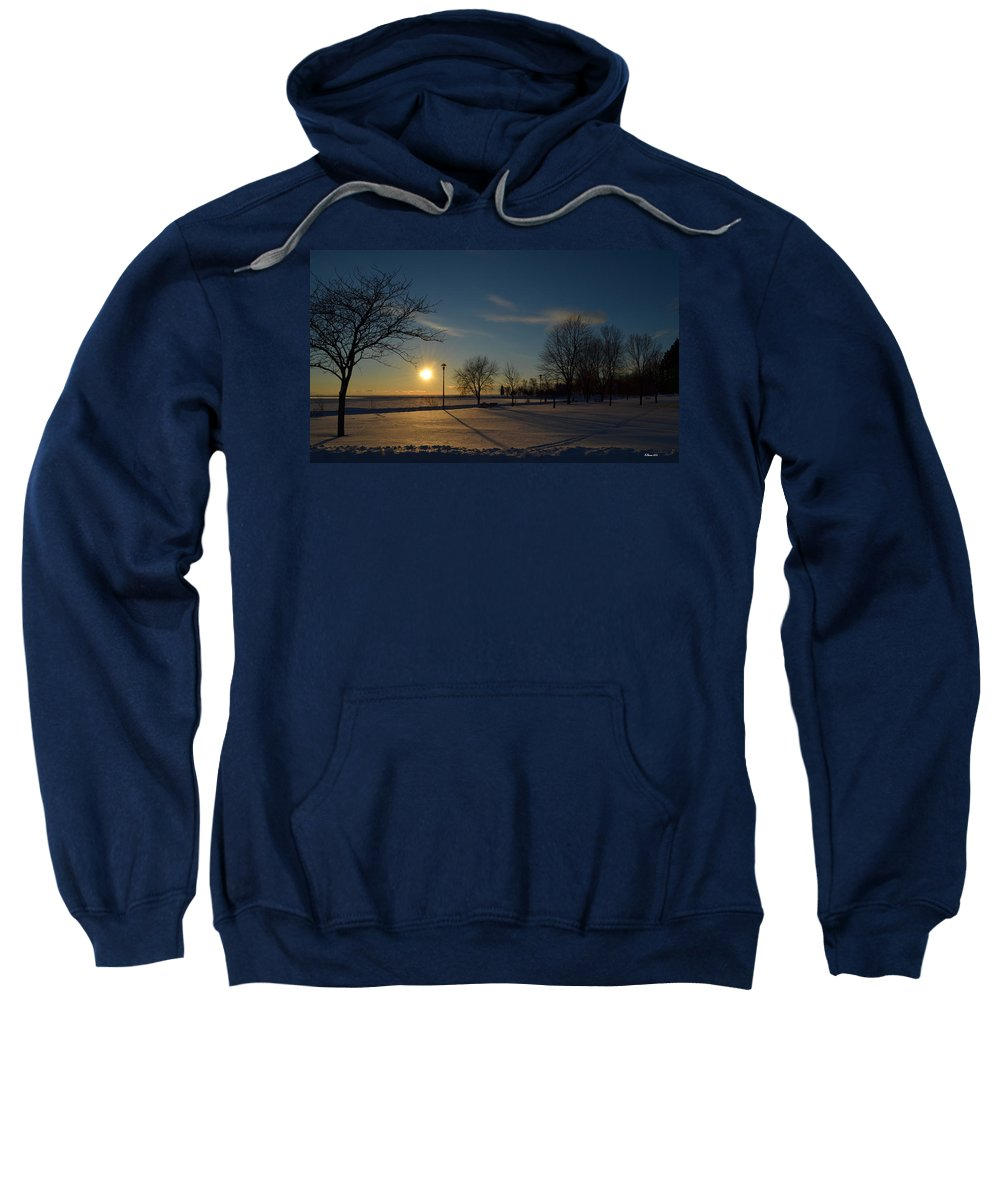 Lake Sweatshirt featuring the photograph Sunset By The Lake by Steve Stones