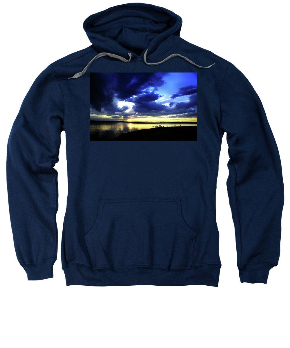 Sunset Sweatshirt featuring the photograph Sunset Over Aurora II by Ric Bascobert