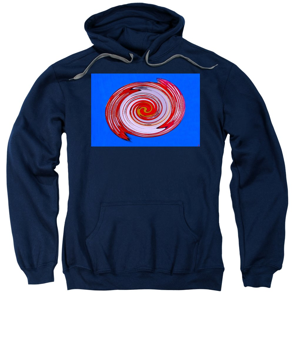 Superman Sweatshirt featuring the painting Superman In Motion by David Lee Thompson