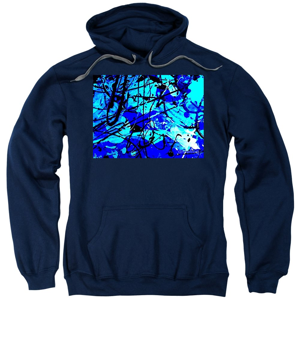 Brightly Colored Sweatshirt featuring the mixed media Surrender by Mark Herman