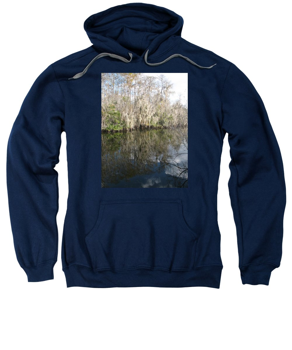 Swamp Sweatshirt featuring the photograph Bold Cypress Reflection by Christiane Schulze Art And Photography
