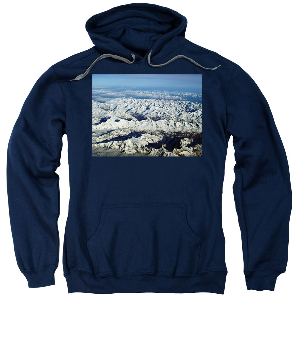 Swiss Alps Sweatshirt featuring the photograph Swiss Alps by Ellen Henneke